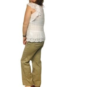 Prana Size 8 Regular Khaki Crossing CORD PANTS